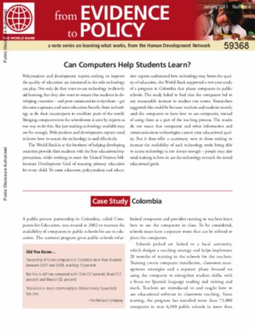 do computers help students learn