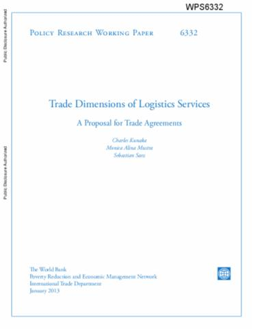 Trade Dimensions Of Logistics Services A Proposal For Trade Agreements
