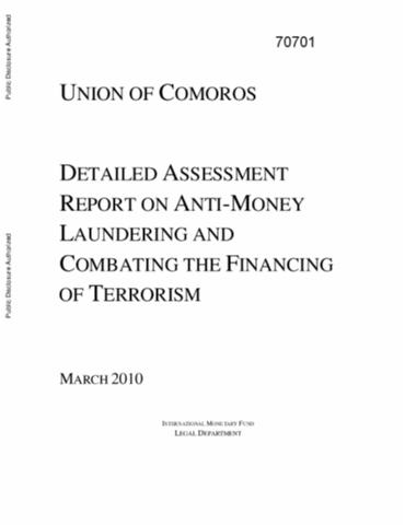 Doing business economy profile 2015 comoros union of comoros detailed assessment report of anti money laundering and combatting the financing of terrorism sciox Images
