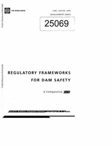 Regulatory Frameworks for Dam Safety: A Comparative Study (Law, Justice, and Development)