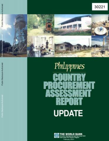 philippines country procurement assessment report update