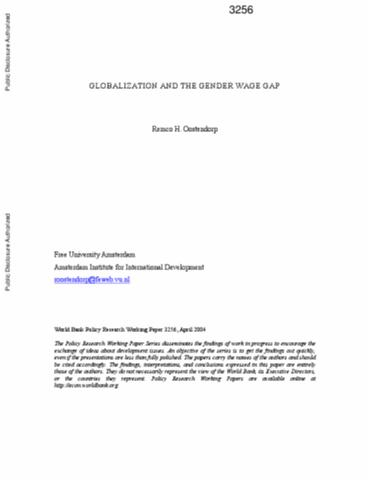 Is globalization widening or narrowing the