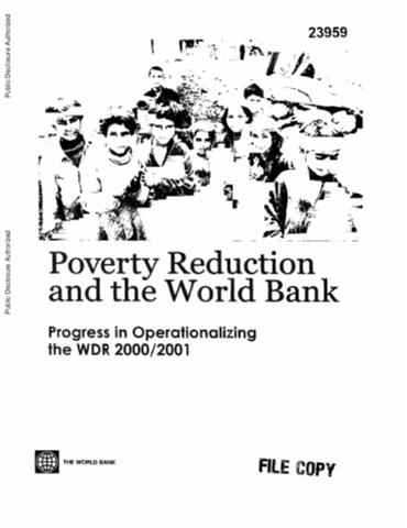 World Development Report 2000/2001 : Attacking Poverty