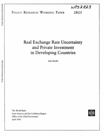 Real Exchange Rate Uncertainty And Private Investment In