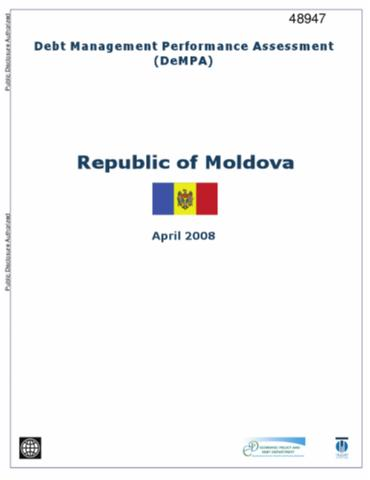 Debt Management Performance Assessment  Republic Of Moldova