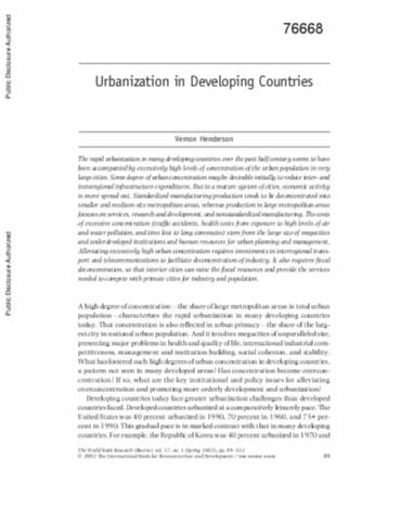 what is the meaning of urbanisation