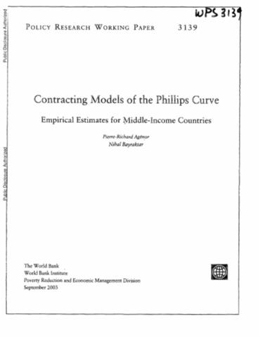 the phillips curve and the philippines There is a clear phillips curve relationship for we include brazil, mexico, chile, peru and colombia and for emerging asia, we include china, the philippines.