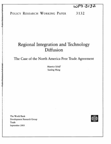 Regional Integration And Technology Diffusion The Case Of The