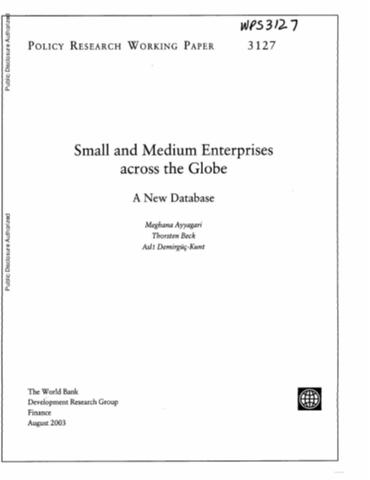 Small And Medium Enterprises Across The Globe  A New Database