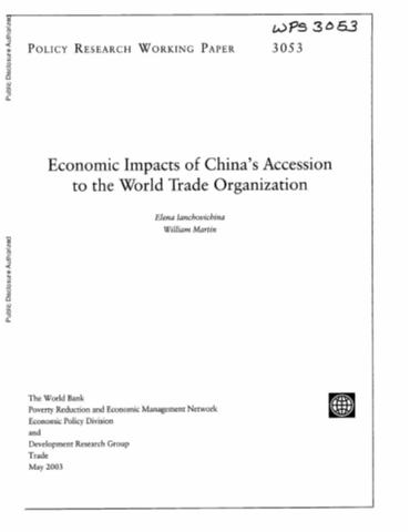 aggregate effect of chinas wto accession essay Studies examining the effects of china's wto accession using the gtap  ( mcdougall et al, 1998), aggregated into 11-regions and 13-sectors (table 1)  the  the section concludes with a summary of the long run welfare  consequences of.