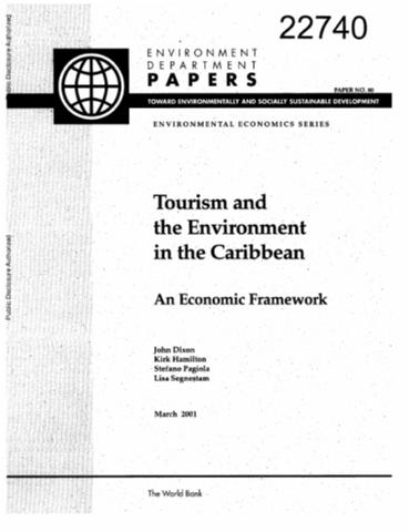 Tourism and the environment in the caribbean an economic framework sciox Images