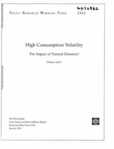 Catastrophic Natural Disasters And Economic Growth