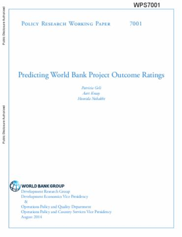 Project on world bank pdf