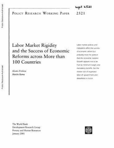 Globalization and workers in developing countries labor market rigidity and the success of economic reforms across more than 100 countries ccuart Images