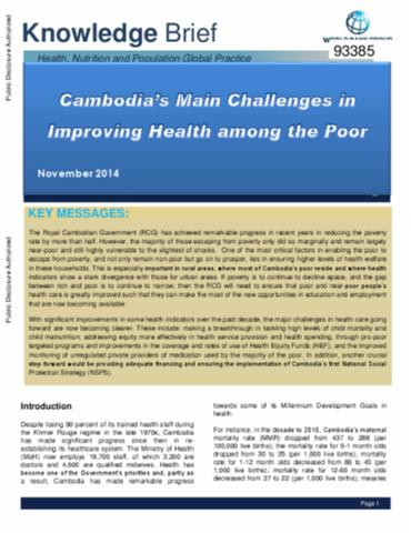 629a7ea45e1 Cambodia s Main Challenges in Improving Health among the Poor