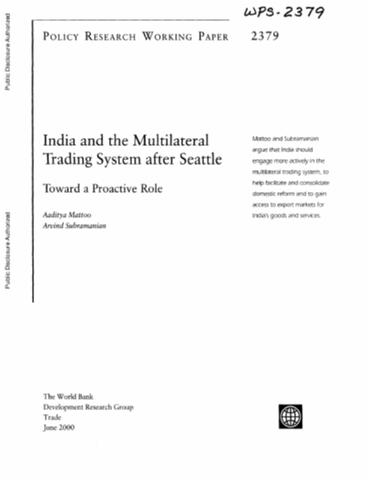Multilateral trading system pdf