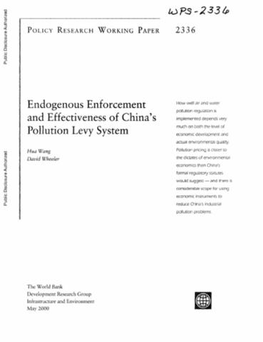 effectiveness of the environmental levy scheme Environmental taxes  but under a trading scheme the costs of pollu-  change levy), and the extraction of aggregates (quarry products.