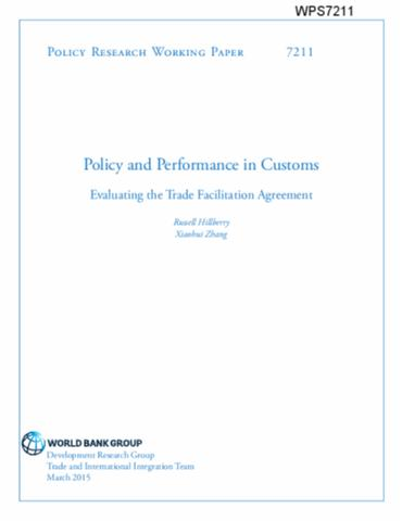 Policy and Performance in Customs : Evaluating the Trade
