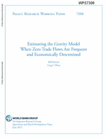 gravity model research paper International journal of business and economics research 2015  thus, this  paper examines the  keywords: gravity model, fixed effects regression,  random effects regression, instrumental variables gmm regression.