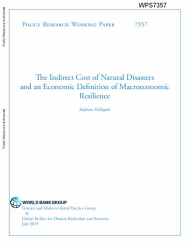 Economic Resilience : Definition and Measurement