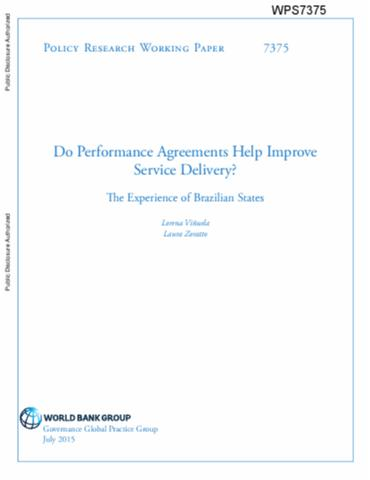 Do Performance Agreements Help Improve Service Delivery The