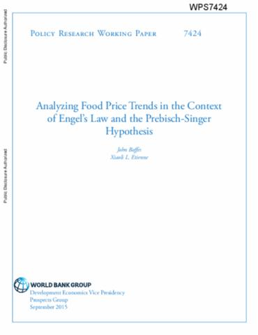 Singer prebisch thesis in conjunction with engel law