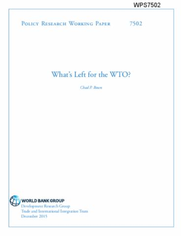 World bank policy research paper 2355