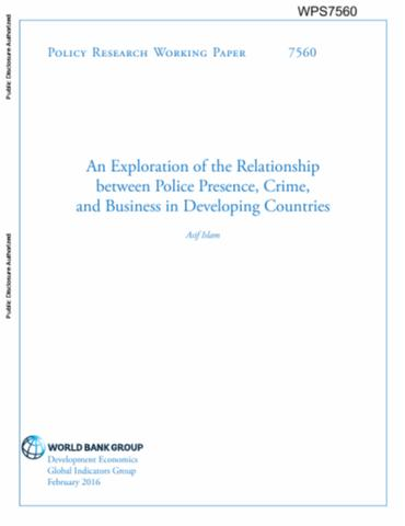 Crime violence and development trends costs and policy options an exploration of the relationship between police presence crime and business in developing countries publicscrutiny Gallery