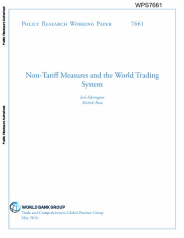 Non Tariff Measures And The World Trading System