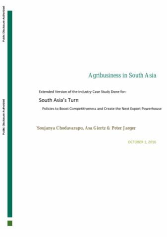 agribusiness in south asia