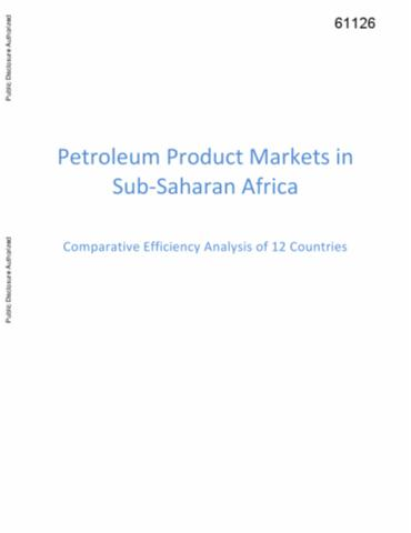 Petroleum Product Markets in Sub-Saharan Africa : Comparative ...