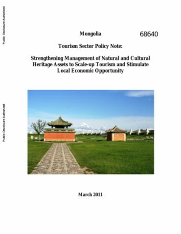 Tourism in africa harnessing tourism for growth and improved mongolia tourism sector policy note strengthening management of natural and cultural heritage assets to scale up tourism and stimulate local economic sciox Image collections