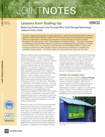 Thumbnail  sc 1 st  Open Knowledge Repository - World Bank Group & Lessons from Scaling Up : Reducing Postharvest Loss through Mini ...