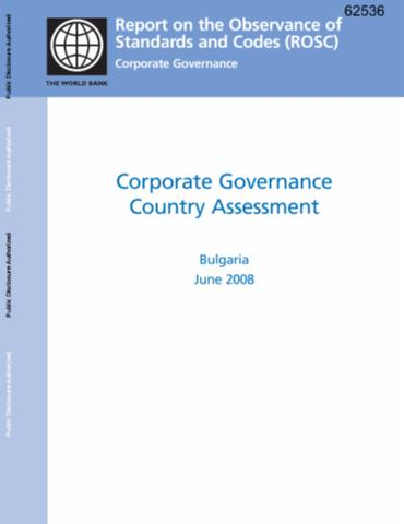 Corporate Governance Assessment