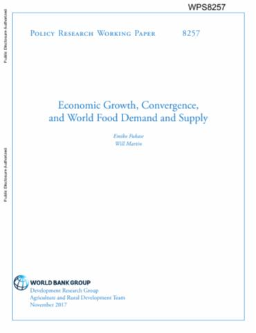 Economic Growth, Convergence, and World Food Demand and Supply