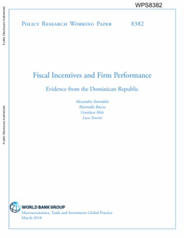 Fiscal incentives and firm performance evidence from the dominican fiscal incentives and firm performance evidence from the dominican republic publicscrutiny Gallery