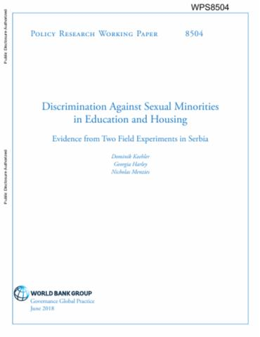 Discrimination Against Sexual Minorities In Education And
