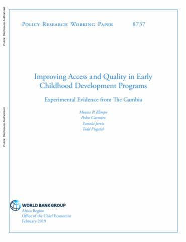 Improving Access And Quality In Early Childhood Development Programs Experimental Evidence From The Gambia