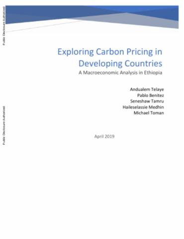 Exploring Carbon Pricing in Developing Countries : A Macroeconomic Analysis in Ethiopia