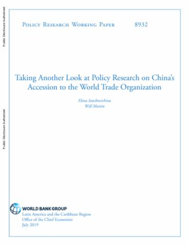 Taking another look at policy research on China's accession to the World Trade Organization