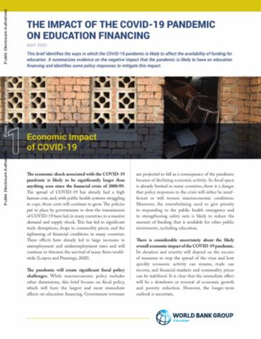 The Impact Of The Covid 19 Pandemic On Education Financing