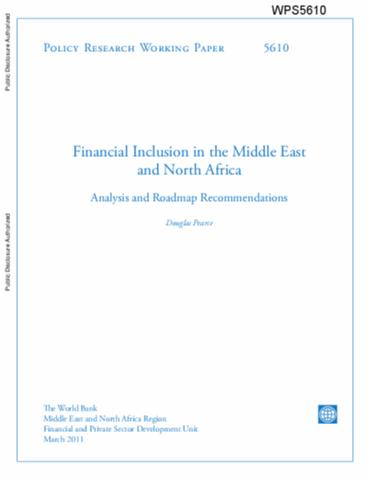 Financial Inclusion In The Middle East And North Africa Analysis Roadmap Recommendations