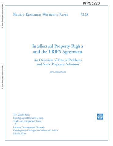 Intellectual Property Rights And The Trips Agreement An Overview