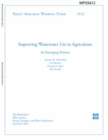 beyond more crop per drop evolving thinking on agricultural  improving wastewater use in agriculture an emerging priority