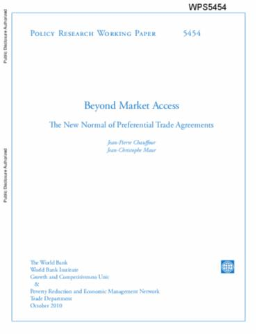 Preferential Trade Agreement Policies For Development A Handbook
