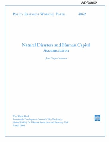 Natural Disasters And Human Capital Accumulation
