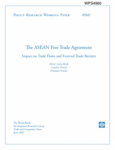 The Asean Free Trade Agreement Impact On Trade Flows And External