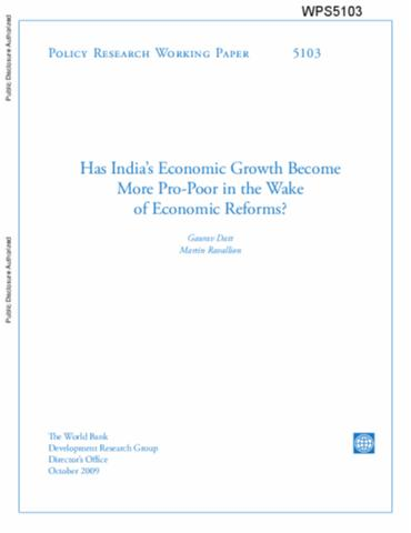 World bank policy research working paper no. 4943 may 2009