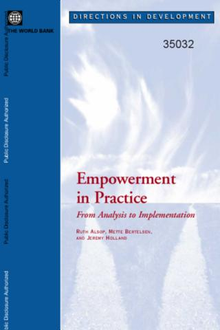 Empowerment in Practice : From Analysis to Implementation