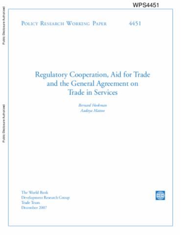 Regulatory Cooperation Aid For Trade And The General Agreement On